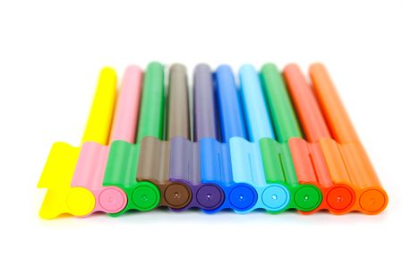 Marker pens isolated against a white background Stock Photo - 4697841