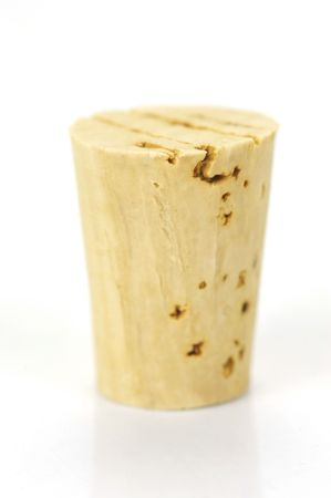 Cork stopper isolated against a white background Stock Photo