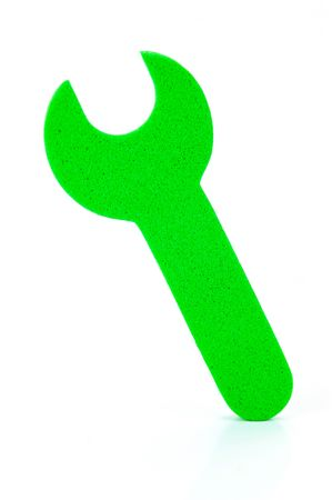 crescent wrench: Construction spanner symbols isolated against a white background