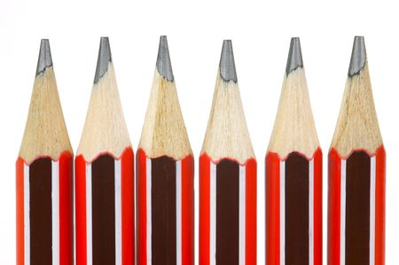 Lead pencils isolated against a white background photo