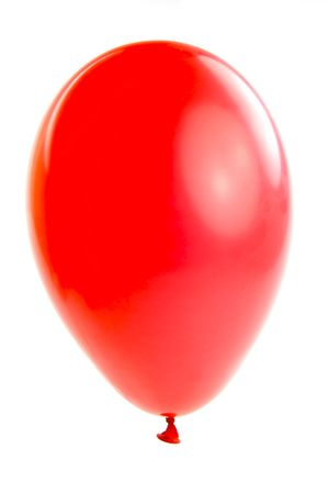 A red balloon isolated against a white background Stock Photo