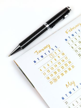 A 2010 Calendar isolated against a white background