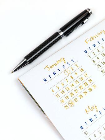 calendar: A 2010 Calendar isolated against a white background