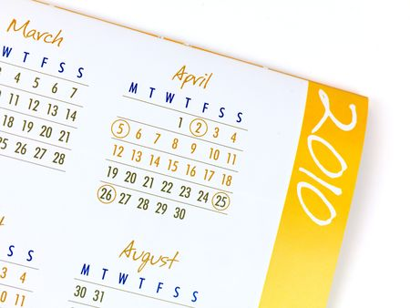 A 2010 Calendar isolated against a white background Stock Photo - 6059275