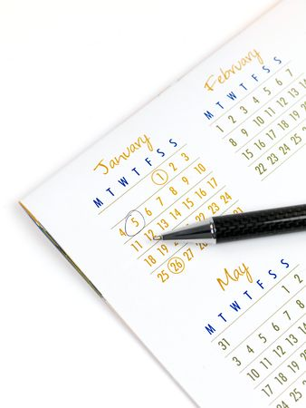 calendar background: A 2010 Calendar isolated against a white background