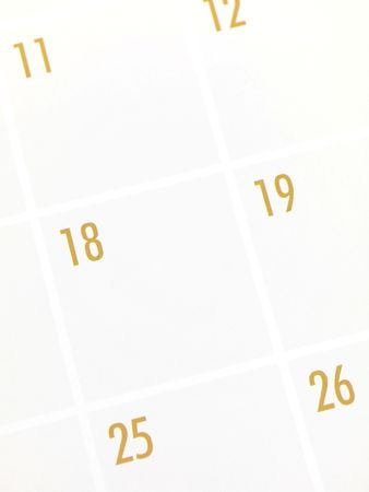 written date: A close shot of monthly calendar page Stock Photo