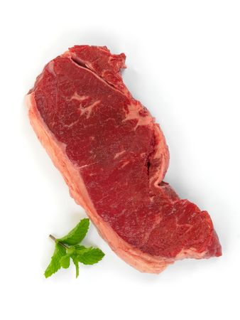 porterhouse: Porterhouse steak isolated against a white background Stock Photo
