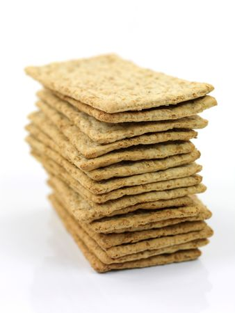 savoury: Savoury crackers isolated against a white background