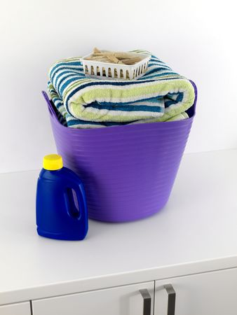 A laundry items isolated against a white background  photo