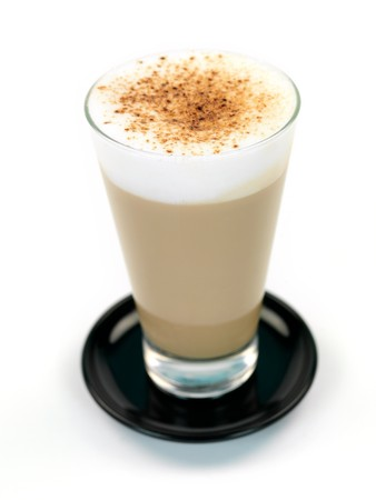 A Latte isolated on a kitchen bench
