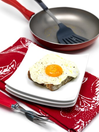 A freshly fried egg on a piece of toast Stock Photo - 7342018