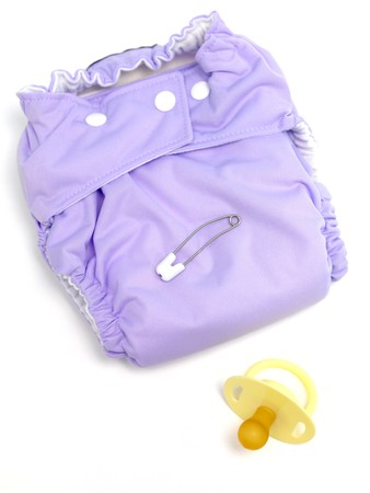 A modern cloth nappy isolated against a white background Stock Photo - 7513618