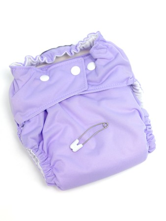 incontinence: A modern cloth nappy isolated against a white background