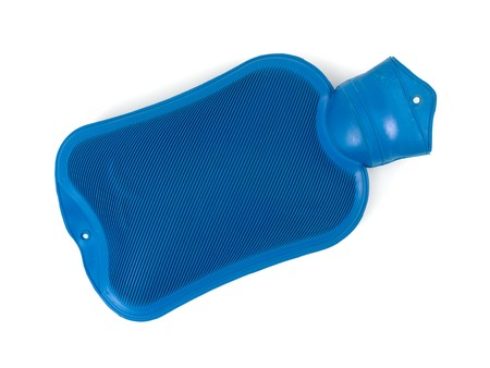 hot water bottle: A hot water bottle isolated against a white background Stock Photo