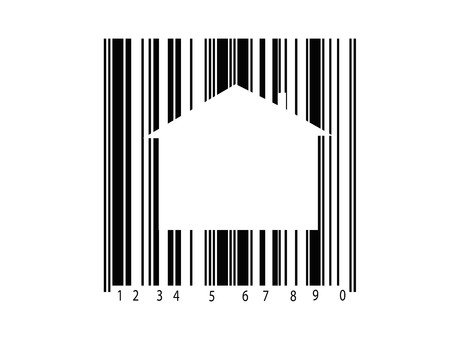A barcode isolated against a white background photo