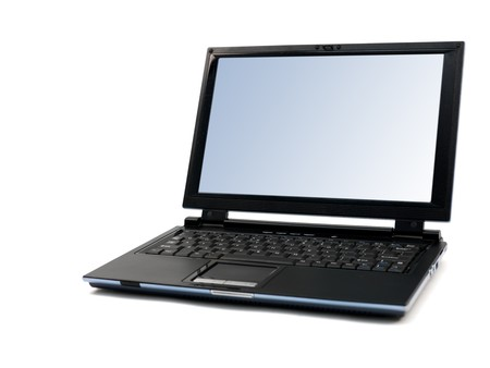 A laptop computer isolated against a white background Stock Photo - 7855198