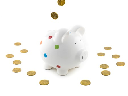 A piggy bank isolated against a white background photo