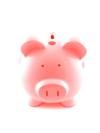 A piggy bank isolated against a white background Stock Photo - 8008508