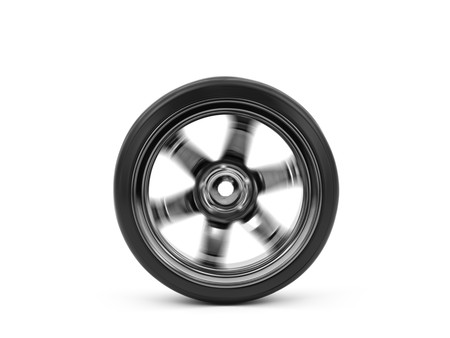 Chromed wheel with tires isolated on white background Stock Photo - 8123101