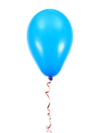 Blaue Luftballons, vor weißem hintergrund isoliert