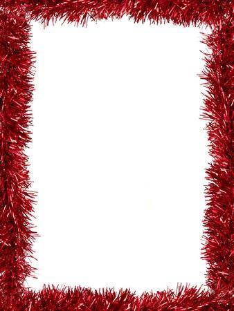 크리스마스 반짝이는 흰색 배경에 대해 격리 테두리