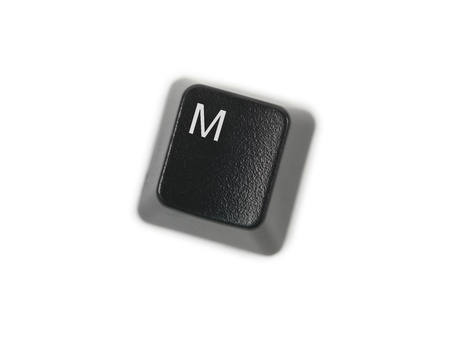 A keyboard key isolated against a white background Stock Photo - 8286785