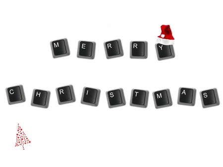 spelt: Keyboard keys isolated against a white background Stock Photo