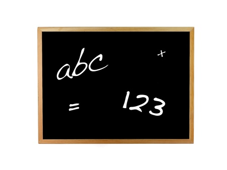 A blackboard isolated against a white background photo