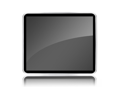 A computer tablet isolated against a white background Stock Photo - 8446378
