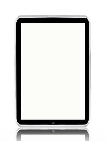 A computer tablet isolated against a white background Stock Photo - 8446356
