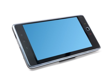A pc tablet isolated against a white background Stock Photo - 8446403