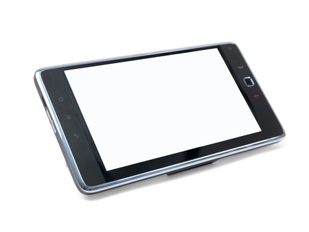 android tablet: An android tablet isolated against a white background