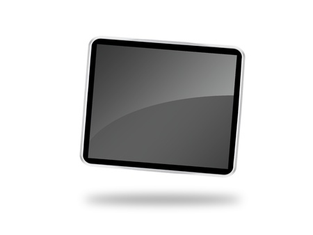 An android tablet isolated against a white background Stock Photo - 8446313