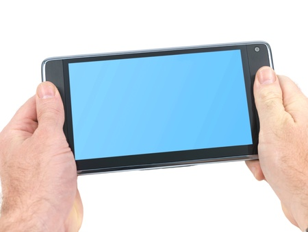 pc tablet isolated against a white background Stock Photo - 8446523