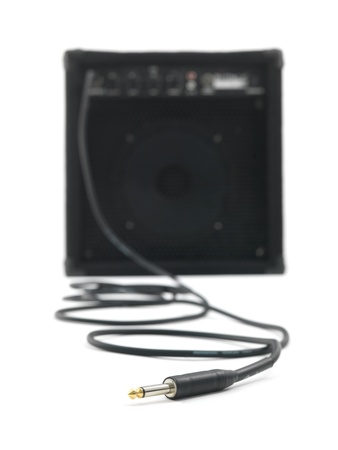 overdrive: An amplifier isolated against a white background
