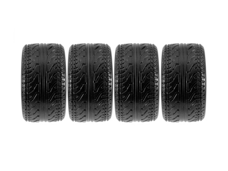 Low profile tires isolated on white background  photo