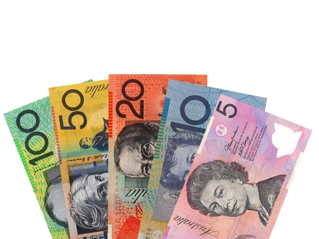 australian: Australian currency isolated against a white background