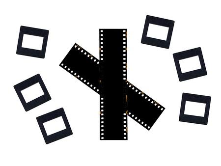 negatives: Photographic negatives isolated against a white background Stock Photo