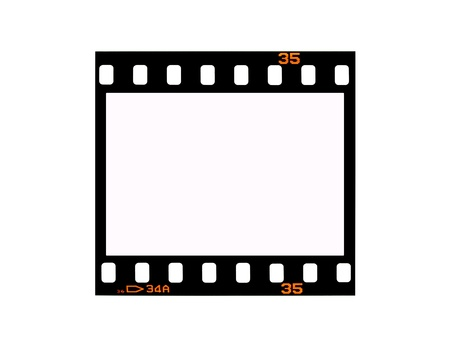 rollo fotogr�fico: Negativos fotogr�ficos aislados contra un fondo blanco