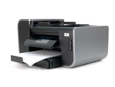흰색 배경에 대해 격리 멀티 기능 프린터 스톡 콘텐츠