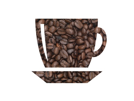 Coffee beans in the shape of a coffee cup Stock Photo - 9022173