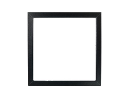 black and white photography: A photo frame isolated against a white background