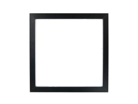 marco madera: Un marco de fotograf�a aislado contra un fondo blanco