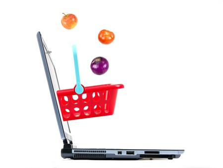 contempory: A contempory photo of shopping on line