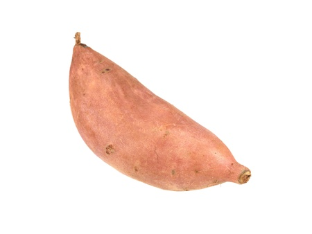 starchy food: A sweet potato isolated against a white background
