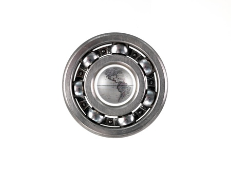 bearings: A bearing isolated against a white background