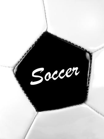 up close image: An up close image of a soccer ball Stock Photo