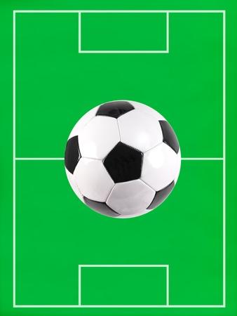 soccer pitch: A soccer pitch illustration Stock Photo