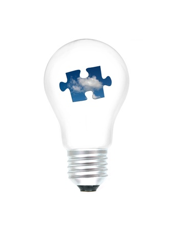 A light bulb isolated against a white background photo
