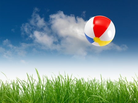 A beach ball in the sky Stock Photo - 9344651